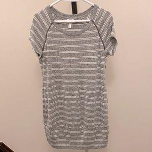 Thyme Maternity & Nursing Grey Stripe Tunic